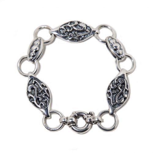 Bracelet Camé en argent sterling. Bracelet fait au Quebec par SCARO.