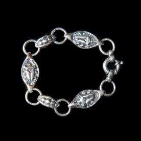Bracelet Camé réversible en argent sterling. Bijou fait au Québec à la main.