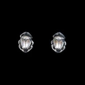 Boucles d'oreilles Intemporel en argent sterling en forme de scarabée. Bijou SCARO.