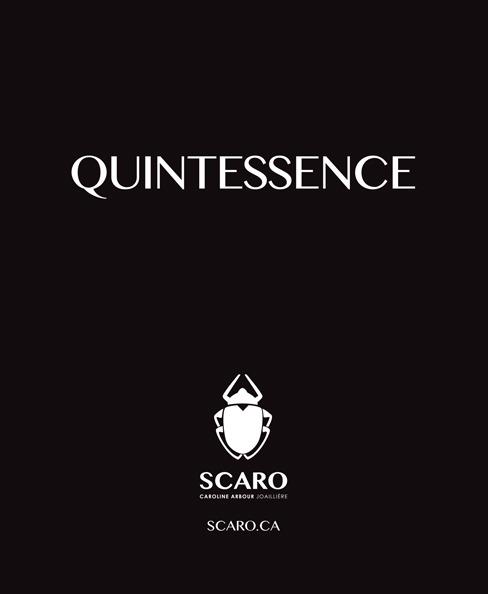 Catalogue Quintessence, images issues du tournage de la publicité SCARO de la campagne Quintessence. Collection des bijoux haut de gamme SCARO 2017.
