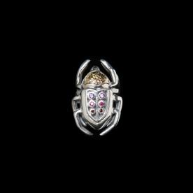 Bague Quintessence en argent sterling et or 14K. Bijoux scarabées par SCARO.